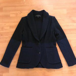 RAG & BONE Jacket Black Blue Wool Knit Blazer XS